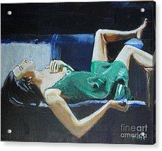 The Dreamer Acrylic Print by Judy Kay