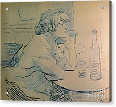 The Drinker Or An Hangover Acrylic Print by Henri de Toulouse-lautrec