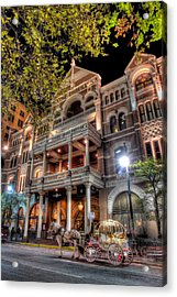The Driskill Hotel Acrylic Print by Tim Stanley