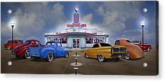 The Drive In Acrylic Print by Mike McGlothlen