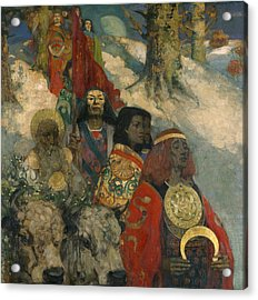 The Druids - Bringing In The Mistletoe Acrylic Print by George and Hornel, Edward A. Henry