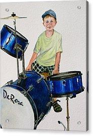 The Drummer Acrylic Print by Karol Wyckoff