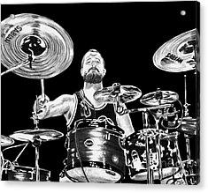 Drummer Acrylic Print by Terri Mills