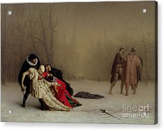 The Duel After The Masquerade Acrylic Print by Jean Leon Gerome