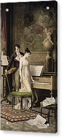 The Duet Acrylic Print by Karl the Elder Schweninger