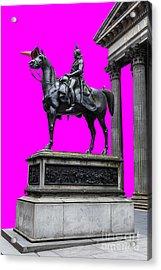 The Duke Of Wellington Cyan Acrylic Print by John Farnan