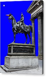 The Duke Of Wellington Goma Blue Acrylic Print by John Farnan