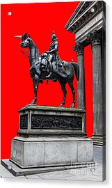 The Duke Of Wellington Red Acrylic Print by John Farnan