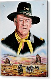 The Duke U.s.cavalry Acrylic Print by Andrew Read