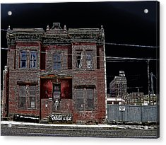 The Dumas Brothel - Butte Montana Acrylic Print by Daniel Hagerman