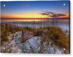 The Dunes At Sunset Acrylic Print by Debra and Dave Vanderlaan