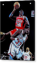 The Dunk Acrylic Print by Don Medina