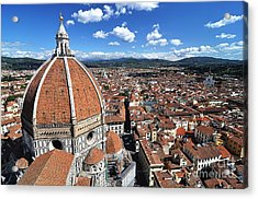 The Duomo Florence Acrylic Print by Jeff Lewis
