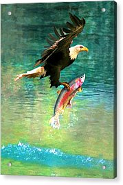The Eagle And The Fish Acrylic Print
