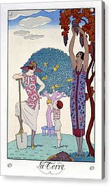 The Earth Acrylic Print by Georges Barbier