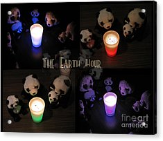 The Earth Hour In The Pandaland Acrylic Print