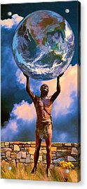The Earth Is In Our Hands Acrylic Print