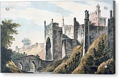 The East End Of The Fort Of Mongheer Acrylic Print by William Hodges