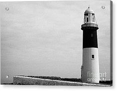 The East Light Lighthouse Altacarry Altacorry Head Rathlin Island Against Grey Sky County Antrim Nor Acrylic Print by Joe Fox