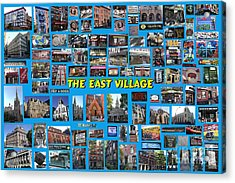 The East Village Collage Acrylic Print