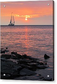 The Edith Becker Sunset Cruise Acrylic Print by David T Wilkinson