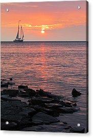 The Edith Becker Sunset Cruise Acrylic Print