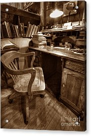 The Editor's Desk Acrylic Print by ELDavis Photography