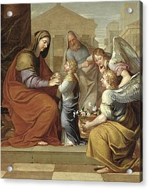 The Education Of The Virgin, 1658 Oil On Canvas Acrylic Print