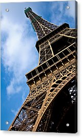 The Eiffel Tower From Below Acrylic Print by Nila Newsom