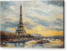 The Eiffel Tower- From The River Seine Acrylic Print