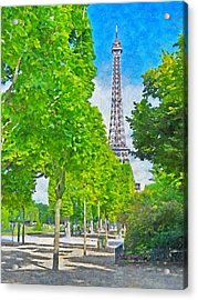 The Eiffel Tower In The Spring Of 2014 Acrylic Print