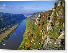 The Elbe Sandstone Mountains Along The Elbe River Acrylic Print