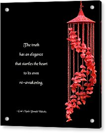 The Elegance Of Truth Acrylic Print by Mike Flynn