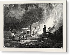 The Elements A Magnificent City Has Its Superb Temples Acrylic Print by Stanfield, Clarkson Frederick (1793-1867), English