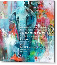 The Elephant And The Butterfly Drseuss Quote Acrylic Print