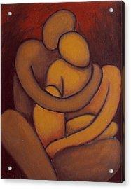 The Embrace Acrylic Print by Estefan Gargost