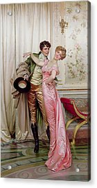 The Embrace Acrylic Print by Joseph Frederick Charles Soulacroix