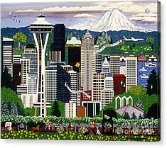 The Emerald City Seattle Acrylic Print
