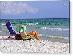 The Emerald Coast Acrylic Print by Charles Beeler