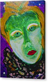 Acrylic Print featuring the painting The Emerald Lady by Joan Reese