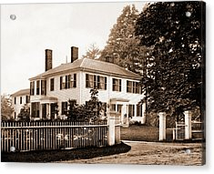 The Emerson House, Concord, Emerson House Concord Acrylic Print by Litz Collection