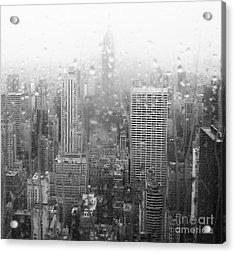 The Empire In The Rain Acrylic Print by Alice Gardoni