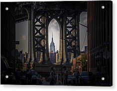 The Empire State  Acrylic Print by Anthony Fields
