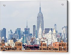 The Empire State Building From The Brooklyn Bridge Acrylic Print