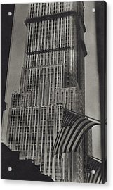 The Empire State Building In New York City Acrylic Print