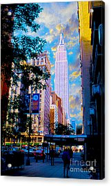 The Empire State Building Acrylic Print by Jon Neidert