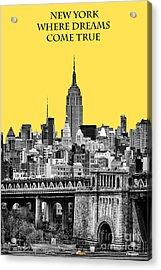 The Empire State Building Pantone Yellow Acrylic Print