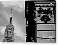 Acrylic Print featuring the photograph The Empire State Building by Steven Macanka