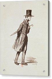 The Employee, From Les Francais Peints Par Eux-memes, Engraved By Guillaumot, Paris, C.1850 Acrylic Print by Paul Gavarni