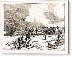 The Engagement At Mati Greek Artillery Making Good Practice Acrylic Print by Litz Collection
